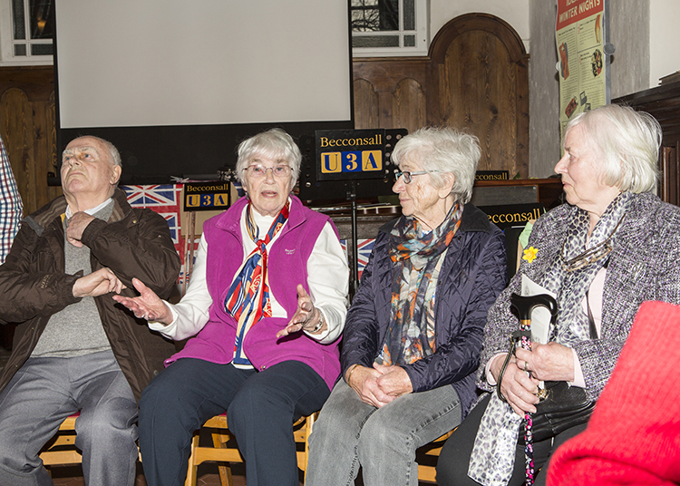 Photo above: Sisters Margaret and Mary joined by brother, Bob and cousin Jenny give their accounts of the bombing. (Pictures courtesy of Lynda McIntyre - copyright)
